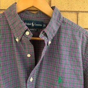 Ralph Lauren plaid shirt EUC